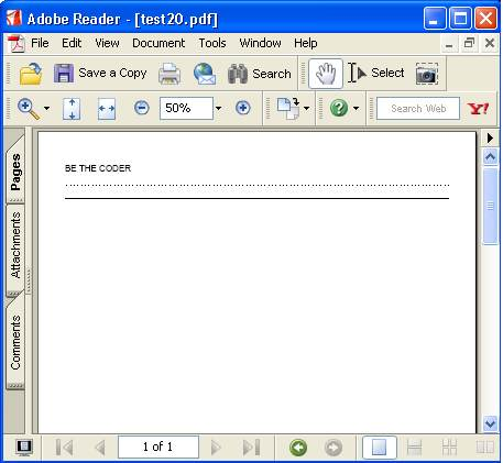 BE THE CODER > PDF > iTEXT Examples > Line Separators