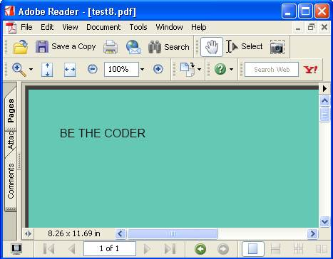 BE THE CODER > PDF > iTEXT Examples > Document Border